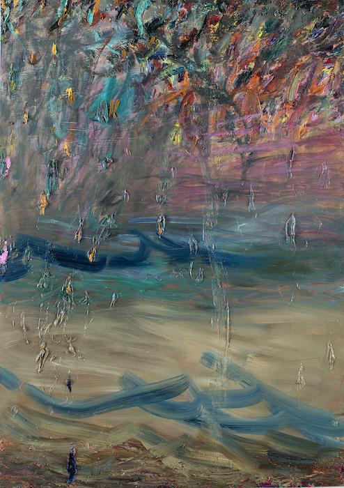 Laulu, joka ui rantaan, 170 x 120 cm, 2020