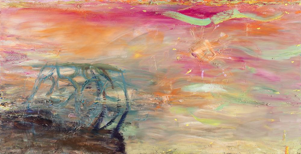 Säteileviä kangastuksia, 120 x 235 cm, 2020