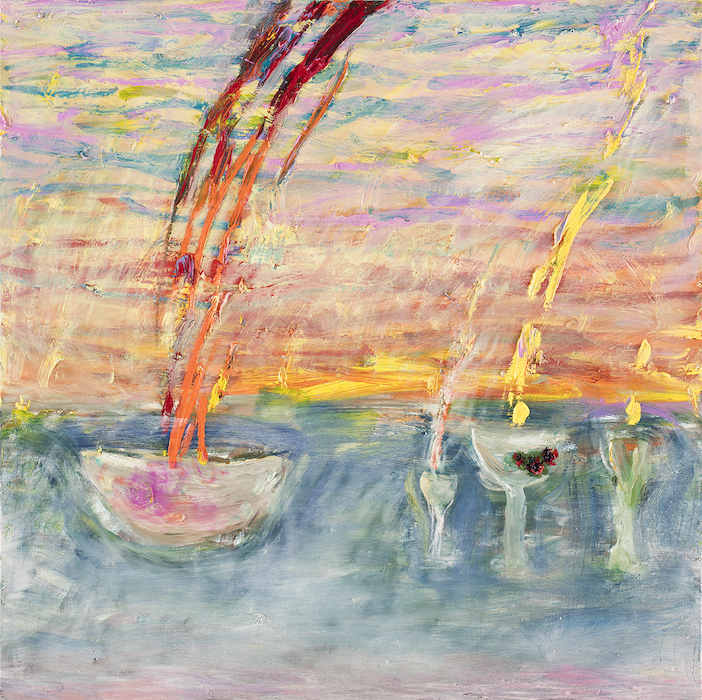 Jaettu aurinko, 90 x 90 cm, 2021