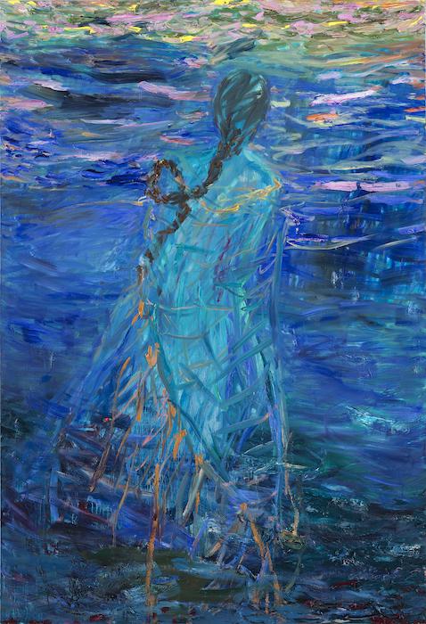 Kultainen lanka, 190 x 130 cm, 2021