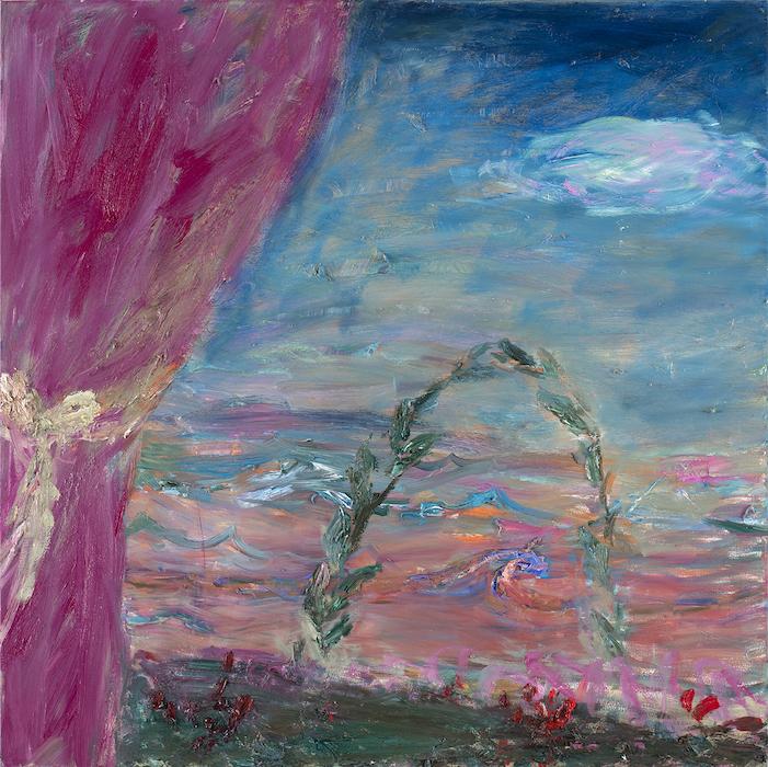 Pilvipoutaa, 110 x 110 cm, 2021