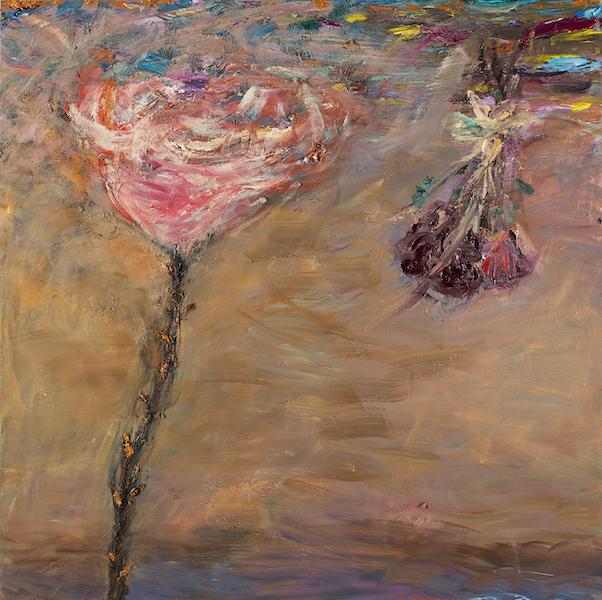 Golden Thorns, 130 x 130 cm, 2021